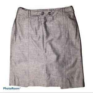 Ann Taylor Loft Pinstripe Pencil Skirt Size 2